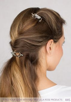 Use matching flexi clips in different sizes to create your unique and beautiful hairstyles. Zita~ petite dragonfly shown in mini (xxs) and extra small (xs)