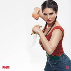 This Photo Series Featuring Sunny Leone As A Martial Arts Warrior Is Inspiring #bollywood #actress #photo #shoot #martial #arts