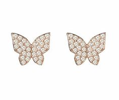 Flutterby #butterfly earring in #rosegold, part of the talisman collection.  #Butterflies are deep and powerful representations of life. Many cultures associate the butterfly with our #souls. It represents endurance, change, #hope and #life  www.latelita.com  #jewellery #jewelry #joyas #bijoux #earring #fashion #fblogger #fashionblogger #fashionista #style #styleblogger #latelita #london #love #pink #houseoffraser #ootd #picoftheday #designer #paris #endurance #symbolism