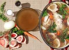 Homemade bone broth has been getting a lot of attention lately for its incredible health benefits. I have a healthy beef bone broth recipe and video for you Bone Broth Benefits, Large Crock Pot, Beef Bone Broth, Beef Bones, Slow Cooker Beef, My Favorite Food, Favorite Recipes, Soups And Stews, High Tea
