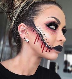 50 scary halloween makeup costume ideas to try pinterest really scary halloween makeup ideas to scare the wits out of your friends trend to wear solutioingenieria Image collections