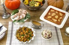 """Turn Your Thanksgiving Buffet into a Food Display  Just because you are serving your Thanksgiving """"buffet-style"""" doesn't mean you have to give up on having a beautiful and artfully presented meal."""