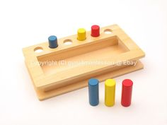 NEW Montessori Infant Toddler Material - Imbucare Peg Box #guru4montessori