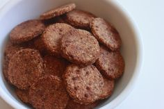 Cinnamon Toast Crunch Crackers. Almond flour, baking powder, coconut sugar, egg, cinnamon, sea salt, ghee.
