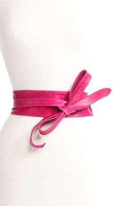 Wrap Belt in Fuchsia