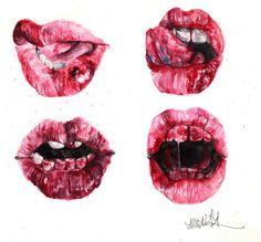 bloody lips.