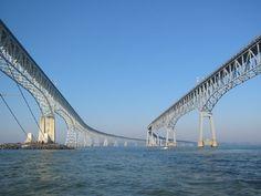 Los 10 puentes más terroríficos del mundo - Foro de Viajes  8. Chesapeake Bay Bridge (Maryland, Estados Unidos).