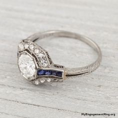 white and blue diamond engagement ring - My Engagement Ring