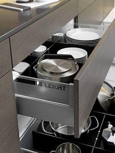 Kitchen Design Drawers Vs Cabinets skyline project- austin tx kitchen cabinetsleicht program