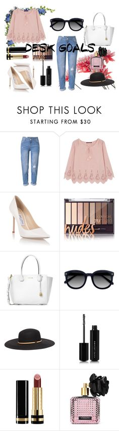 """""""Sin título #167"""" by madness4fashion on Polyvore featuring moda, WithChic, Comptoir Des Cotonniers, Jimmy Choo, Michael Kors, Ace, Gucci, Marc Jacobs y Victoria's Secret"""