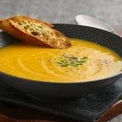 Acorn Squash and Apple Soup recipe from Betty Crocker  Made this last night- relish! -SJJ