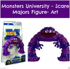 NEW Disney Pixar - Monsters University Purple Scare Majors Figure Art - Age 3+ #Disney  - Re-list February 18, 2014