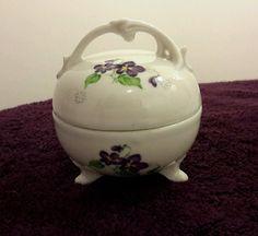 Vintage Violets Trinket Box Made in Japan Tea Cup Saucer, Tea Cups, Violets, Trinket Boxes, Japan, How To Make, Ebay, Vintage, Vintage Comics