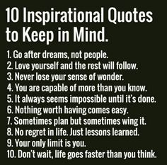 10 inspirational quote