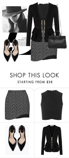 """""""Untitled #152"""" by jovana-p-com ❤ liked on Polyvore featuring Topshop, Zara, Givenchy, Yves Saint Laurent, Cushnie Et Ochs, women's clothing, women, female, woman and misses"""