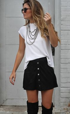 total babe suede skirt