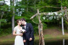 Fête Weddings | Wedding Planning VA | Matt Stanton Photography | Borrowed & Blue Feature | Intimate Outdoor Wedding | Ceremony Altar