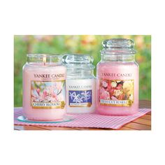 'Cherry Blossom', 'Midnight Jasmine' & 'Fresh Cut Roses' from Yankee Candle Yankee Candles, Yankee Candle Scents, Scented Candles, Candle Jars, Mason Jars, Homemade Candles, Candle Holders, Candles Tumblr, Candle Accessories