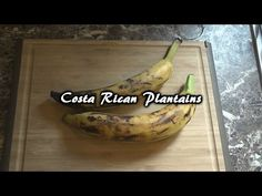 Fried Plantains With Sauce | Vegan Costa Rican Recipe - YouTube