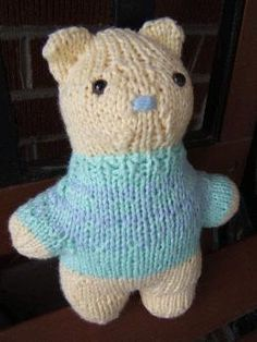 Blah, Blah, Blahhhg: My Own Pattern II: One-Seam Teddy Bear