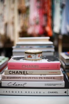 Love Fashion and Interior Design books on a coffee table!