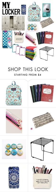 """""""School Locker Decorations"""" by madison1587 ❤ liked on Polyvore featuring interior, interiors, interior design, home, home decor, interior decorating, JanSport, Mead, Music Notes and mylocker"""