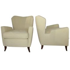 Superb Pair of 1950's Lounge Chairs