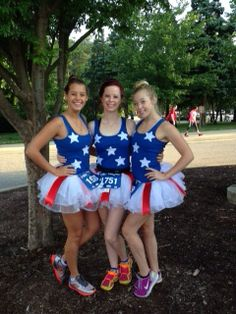 Patriotic Running Costume for the Patriot's Challenge at the Run for the Dream Half Marathon in Williamsburg, VA