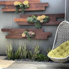 vertical garden Succulent wall garden ideas - Little Piece Of Me Vertical Garden Wall, Garden Wall Art, Garden Walls, Garden In House, Garden Wall Designs, Balcony Garden, Indoor Garden, Outdoor Gardens, Building A Pergola