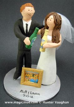 beer wedding cake topper pharmacist groom marries dentist wedding cake topper 11259