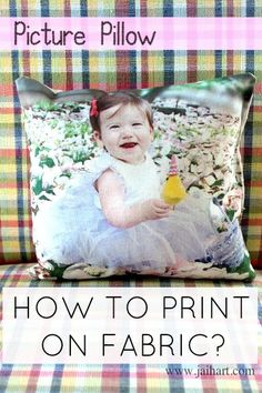 DIY - Photograph Pillow - printing onto fabric using freezer paper Fabric Painting, Fabric Art, Fabric Crafts, Sewing Crafts, Sewing Projects, Photo Projects, Diy Projects To Try, Crafts To Make, Craft Projects