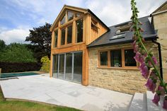 We are passionate about hand making bespoke Oak frame timber buildings, and have established an enviable reputation as one of the leading providers of beautiful Oak framed buildings in Leicester, Oakham and across the UK. Bungalow Extensions, Garden Room Extensions, House Extensions, Oak Framed Buildings, Timber Buildings, Oak Framed Extensions, Cottage Extension, Building Front, Design Your Own Home