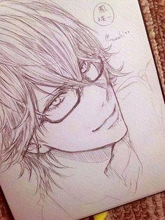Uta no Prince Sama Anime Boy Sketch, Anime Drawings Sketches, Art Drawings, Anime Love, Anime Guys, Manga Art, Anime Art, Manga Drawing Tutorials, Art Reference