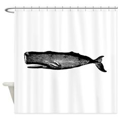 Vintage Whale Shower Curtain on CafePress.com