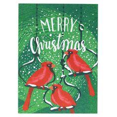 Cardinal Trio Christmas Card