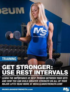 Learn the importance of rest periods in between your sets and how you can manipulate them into building greater strength on all of your major lifts! Muscle Building Tips, Build Muscle, Training Programs, Training Tips, Strength Training Women, Athlete Nutrition, Compound Exercises, High Intensity Interval Training, Mens Fitness