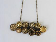 Unique vintage buttons necklace by IL2C on Etsy, €15.00