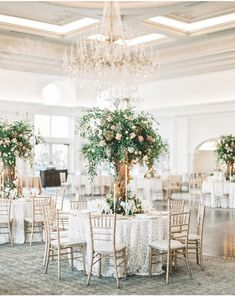 Who said a Winter wedding isn't floral - we adore this blushed and bloomed winter fete at Park Chateau, planned by Shannon Wellington Weddings. Winter Wedding Centerpieces, Flower Centerpieces, Tall Centerpiece, Romantic Centerpieces, Graduation Centerpiece, Quinceanera Centerpieces, Centrepieces, Decoration Table, Reception Decorations