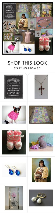 """RESURRECTION ---EASTER ---ETSY"" by treasures4youreyes ❤ liked on Polyvore featuring Cadeau and vintage"