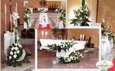 munina zywe biala roza Church Flower Arrangements, Tree Skirts, Christmas Tree, Table Decorations, Holiday Decor, Garden, Flowers, Wedding, Furniture