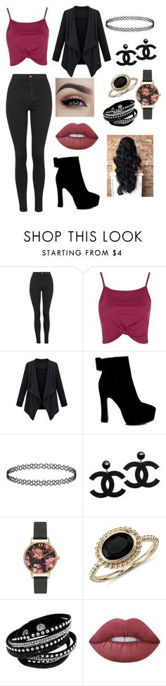 """""""Movie night house"""" by sarah4ever123 ❤ liked on Polyvore featuring Topshop, Olivia Burton, Blue Nile and Lime Crime"""