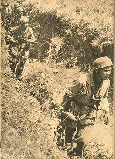 Fallschirmjager in Crete, 1941 - note the sniper, pin by Paolo Marzioli