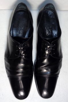 SALVATORE FERRAGAMO BLACK LEATHER CAP TOE DERBY MEN'S SHOES SIZE 13  Price: $169.00 #Dressshoes #Loafers #Derby #Oxford #BlucherShoes #BalmoralShoes At Eagle Ages we love Dress Shoes & Boots. You can find a great choice of second hands & vintage Dress Shoed & boots in our store. https://eagleages.com/shoes/boots