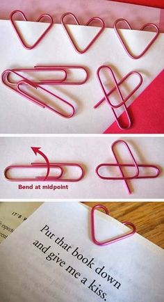Make your own heart bookmark DIY Heart Bookmark Adult Crafts, Fun Crafts, Diy And Crafts, Paper Crafts, Diy Paper, Paper Pin, Paper Toys, Craft Tutorials, Craft Projects