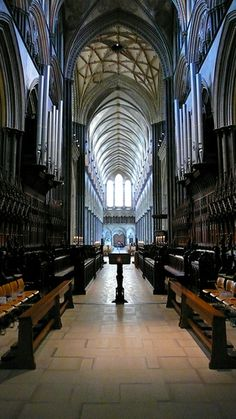 Salisbury Cathedral interior, Salisbury - UK