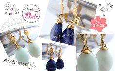 De nieuwste oorbellen van Jewels with Flair met edelstenen.