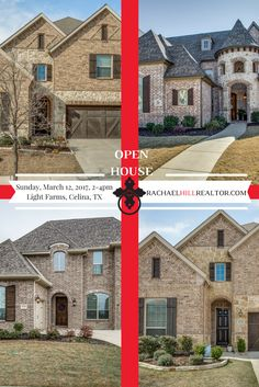 Come see 4 lovely homes in the amazing planned community of Light Farms in Celina, Texas: 1529 Fireside Trail - 4 beds / 4.1 baths / 3,983 sq ft. 1208 Bluebell Court - 4 beds / 4.1 baths / 5,141 sq ft. 3511 Fieldview Court - 4 beds / 3 baths / 3,399 sq ft. 3625 Wagon Wheel Way - 4 beds / 3 baths / 3,399 sq ft.  for more information visit www.rachaelhillrealtor.com or call me at (248) 310-9984