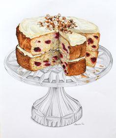 Raspberry and Hazelnut Sour Cream Cake https://alexandranea.wordpress.com/2011/02/16/raspberry-and-hazelnut-sour-cream-cake/