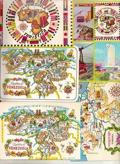 Postcard Maps of Venezuela