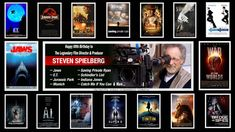 Thank You for his inspiration to become a filmmaker myself and best wishes for a Happy 69th Birthday to the legendary Steven Spielberg!! #HappyBirthday #StevenSpielberg #Celebration #RT #filmmaker